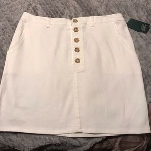 Wild Fable White Denim Skirt